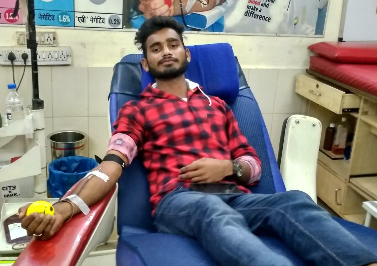 Lokesh Sahu A Positive Blood Donor