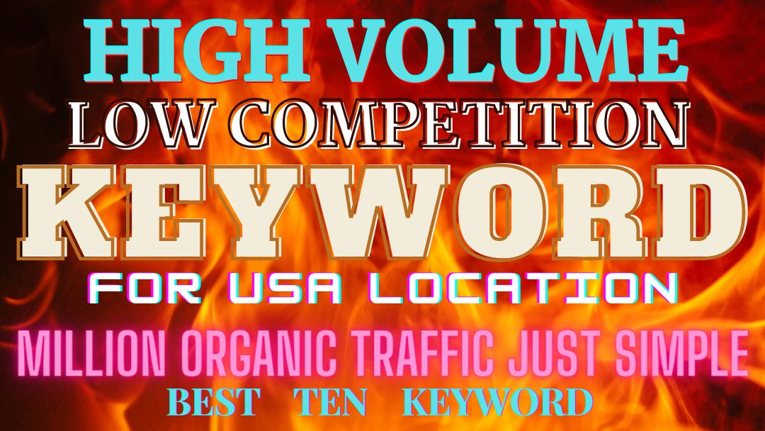 top ten keyword for usa blogging